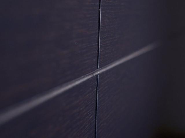 Armadio su misura a parete in legno wengé