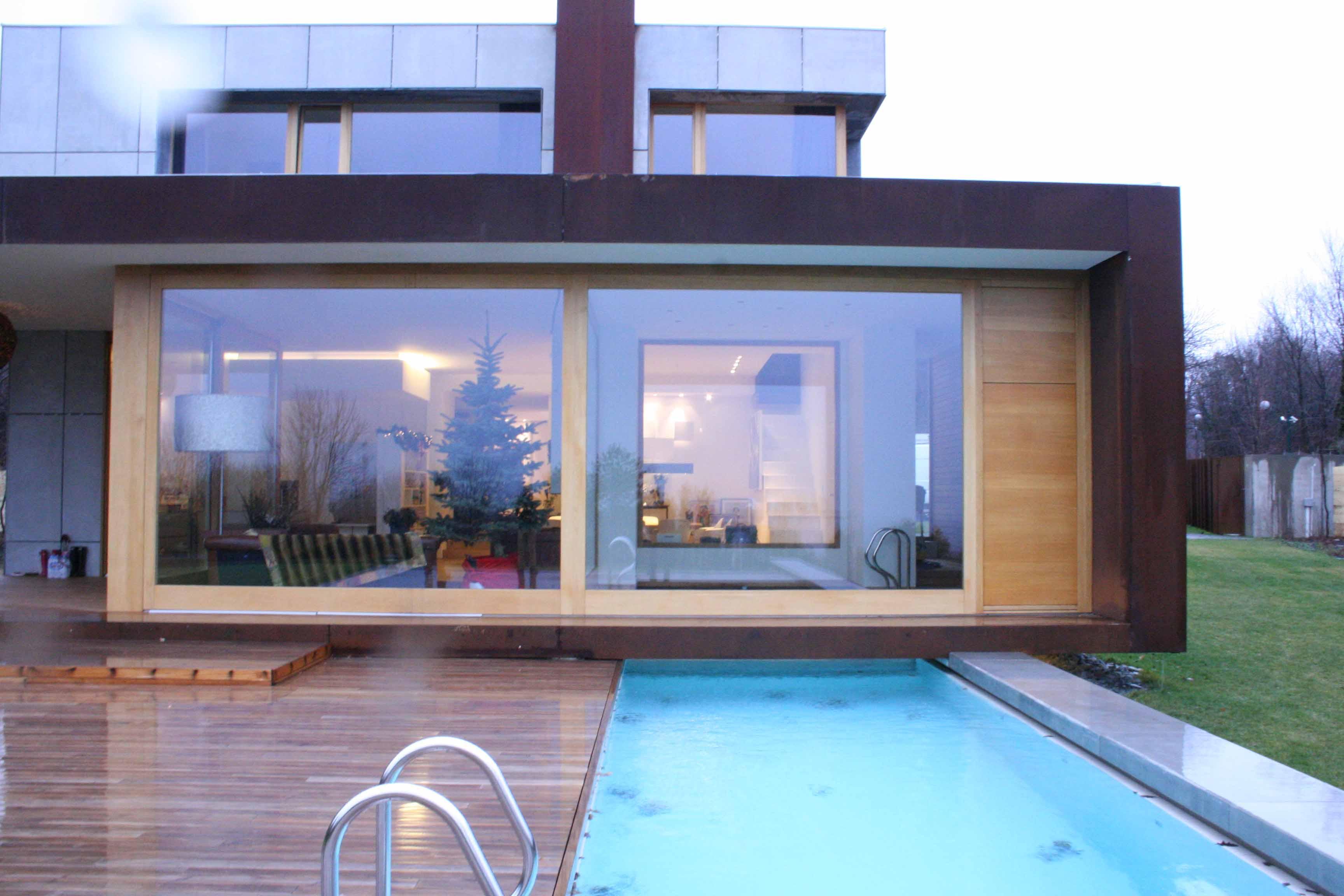 Ville con vetrate for Casa moderna vetrate
