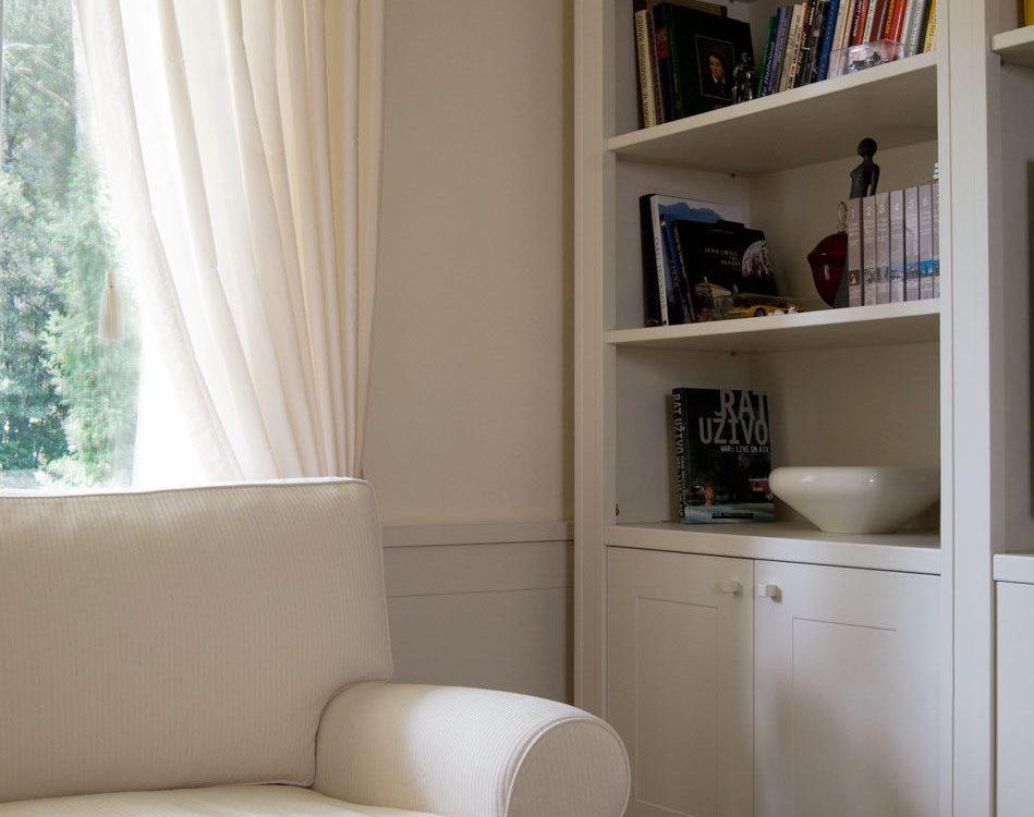 libreria in stile su misura