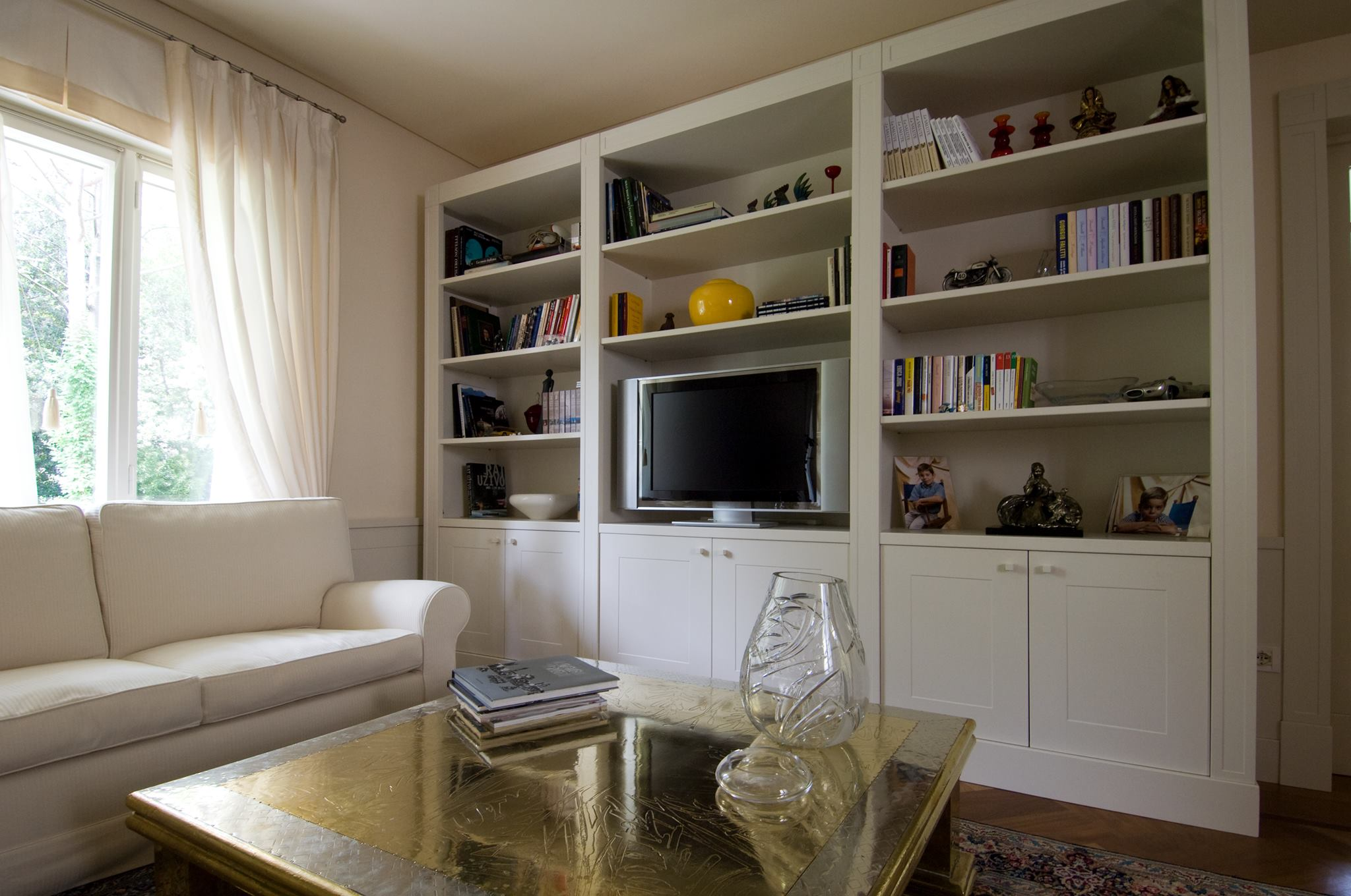 Lacquered bookcase