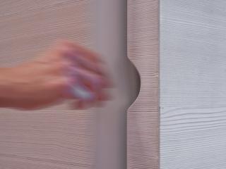 Armadio in larice spazzolato