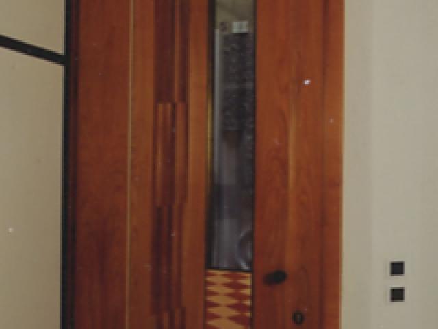 Door with inlays